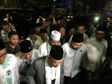 Cawapres Ma'ruf Amin menghadiri Istigasah dan Doa Bersama Hari Lahir (Harlah) PPP ke-46. Medcom.id/ Dian Ihsan