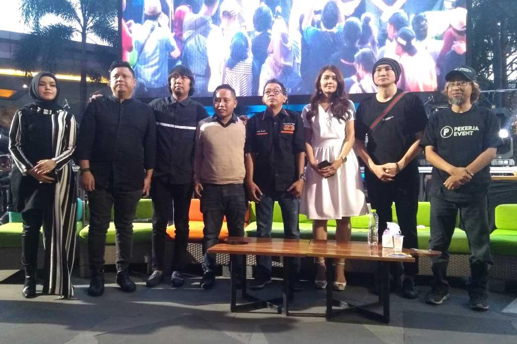Jumpa pers Konser Amal untuk korban tsunami di Selat Sunda, digelar di Lippo Mall Kemang pada Minggu, 6 Januari 2019 (Foto: Medcom.id/Purba Wirastama)