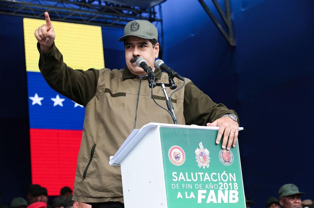 Presiden Venezuela Nicolas Maduro di Caracas, 28 Desember 2018. (Foto: AFP/Venezuelan Presidency/FRANCISCO BATISTA)