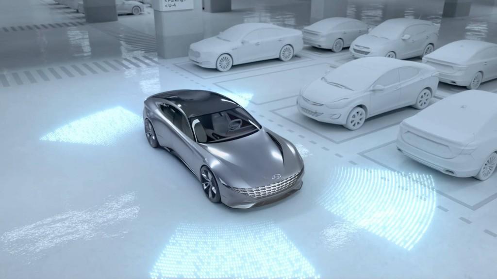 Pengecasan nirkabel (wireless charging) dan sistem parkir valet otomotif (AVPS) untuk mobil-mobil listrik masa depan Hyundai dan Kia. Hyundai