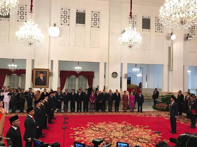 Presiden Joko Widodo melantik 16 duta besar Indonesia untuk negara-negara sahabat--Medcom.id/Achmad Zulfikar Fazli.