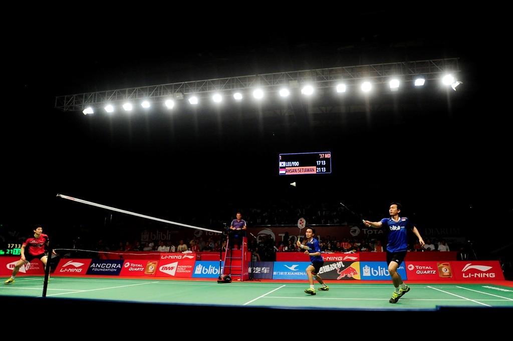 Suasana pertandingan BWF. (Foto: Antara/ Wahyu Putro)