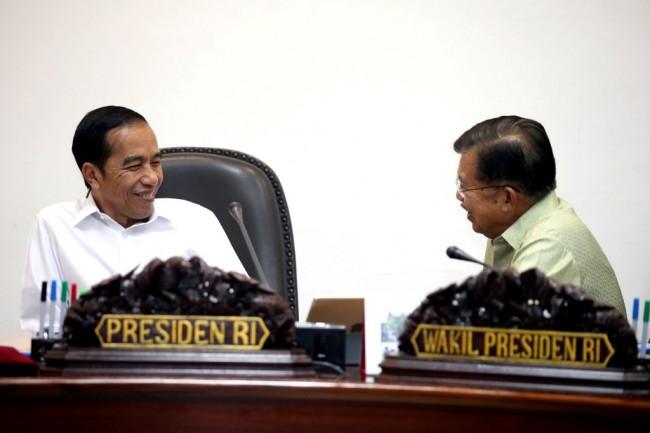 Presiden Joko Widodo dan Wakilnya Jusuf Kalla. Foto: MI/Panca.
