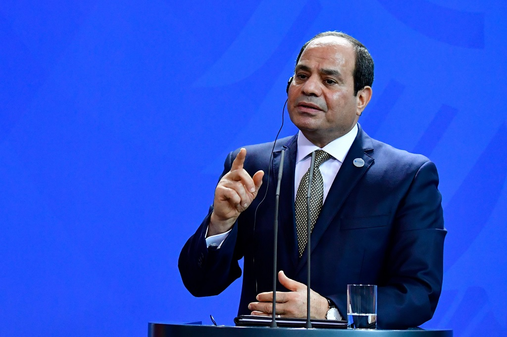 Presiden Mesir Abdel Fattah al-Sisi dalam kunjungan ke Berlin, Jerman, 30 Oktober 2018. (Foto: AFP/TOBIAS SCHWARZ)