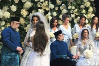 Foto Pernikahan Eks Raja Malaysia Kembali Beredar