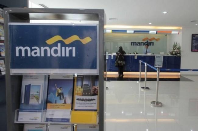 Bank Mandiri  (MI/Angga Yuniar).