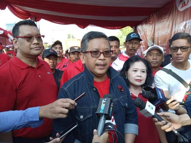 Sekjen PDI Perjuangan Hasto Kristiyanto/Medcom.id/Febrian Ahmad.