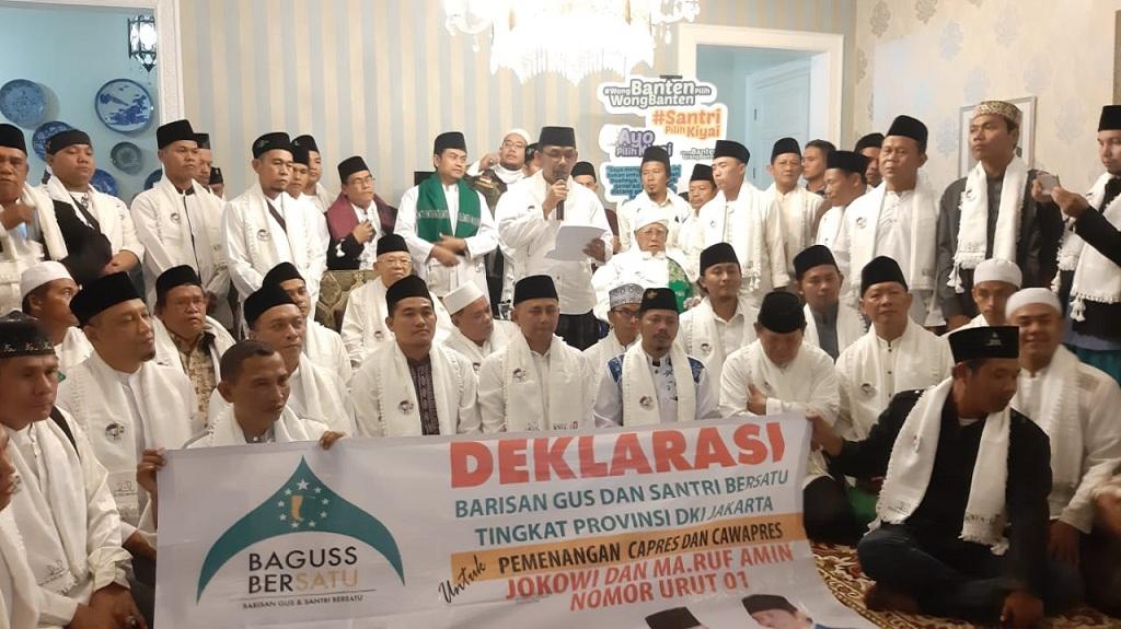Barisan Gus dan Santri Bersatu (Baguss Bersatu) mendeklarasikan dukungan buat Jokowi-Ma'ruf - Medcom.id/M Sholahadhin Azhar.