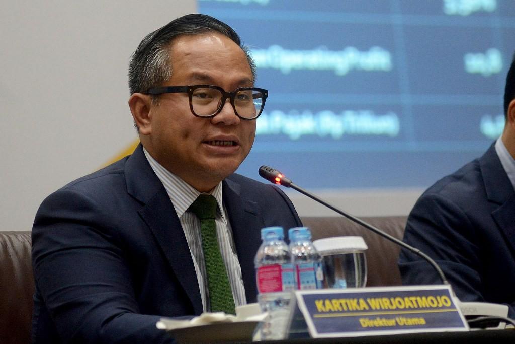 Direktur Utama Bank Mandiri Kartika Wirjoatmojo (MI/Susanto)