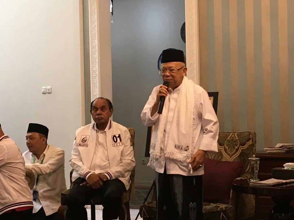 Calon wakil presiden nomor urut 01 Ma'ruf Amin - Medcom,id/Arga Sumantri.