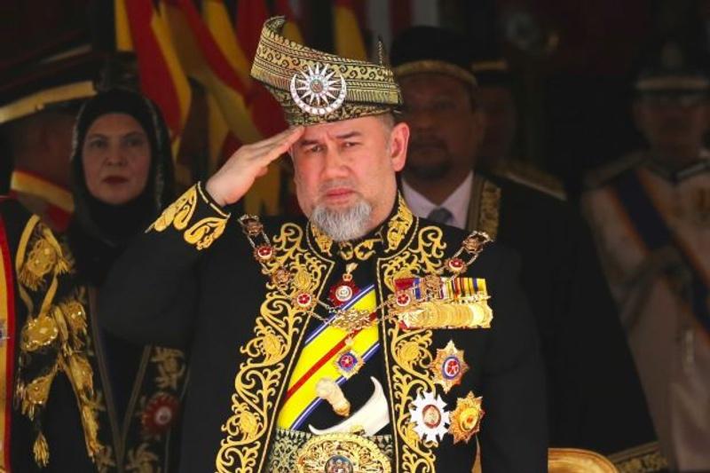 Sultan Muhammad V mundur dari jabatannya sebagai Yang di-Pertuan Agong Malaysia. (Foto: The Star).