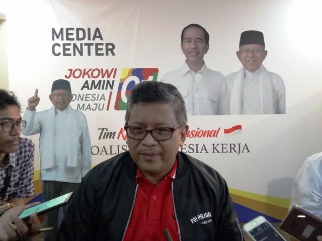 Sekretaris Tim Kampanye Nasional (TKN) Joko Widodo-Ma'ruf Amin, Hasto Kristiyanto. Foto: Medcom.id/Arga Sumantri.