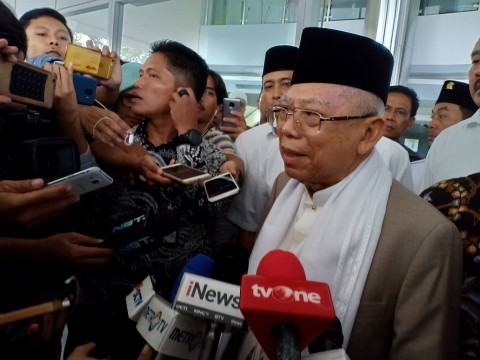 Ma'ruf Amin Jenguk Arifin Ilham