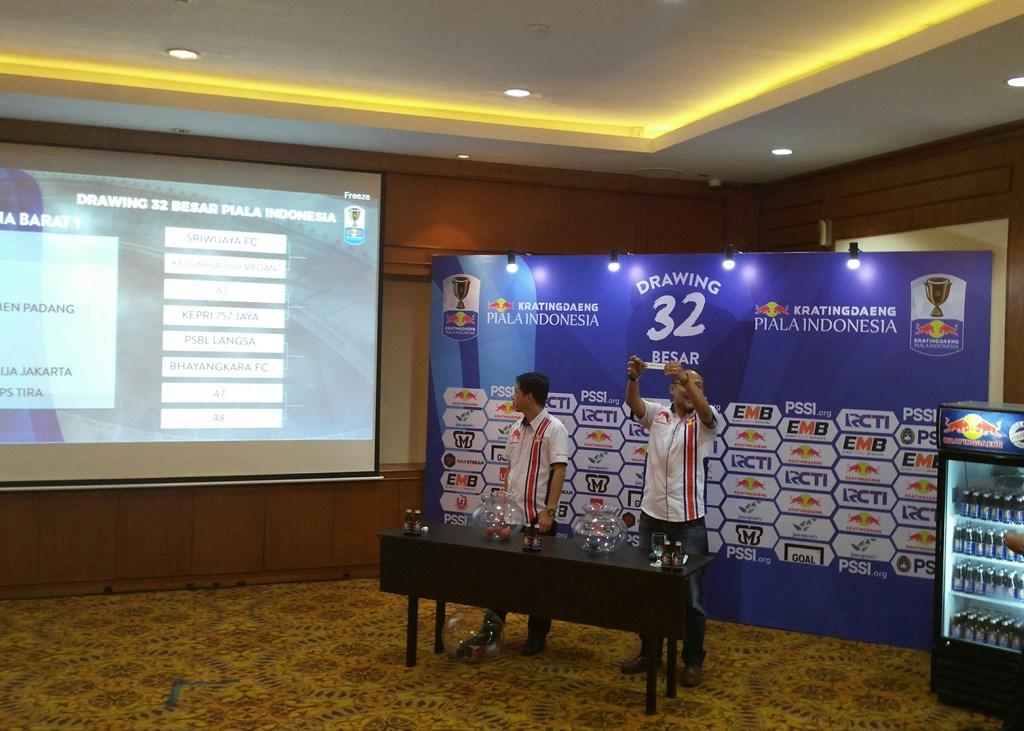 Suasana hasil undian Piala Indonesia. (Foto: medcom.id/ Kautsar Halim)