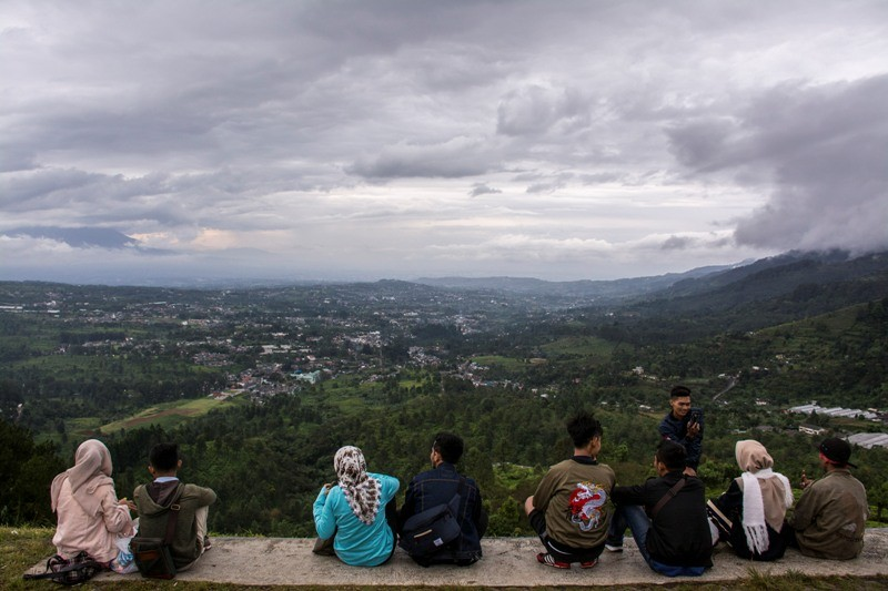 Kawasan wisata Bukit Paralayang, Puncak, Bogor, Jawa Barat. Ant