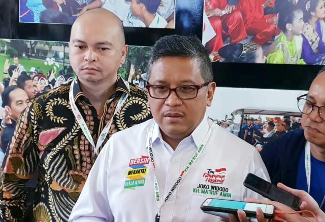 Sekretaris Tim Kampanye Nasional (TKN) Joko Widodo-Ma'ruf Amin Hasto Kristiyanto. Foto: Medcom.id/Arga Sumantri.