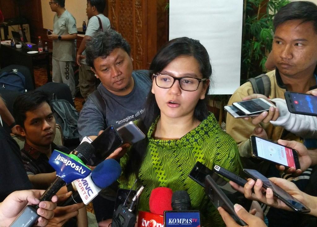 Sekjen PSSI, Ratu Tisha. (Foto: medcom.id/Kautsar Halim)