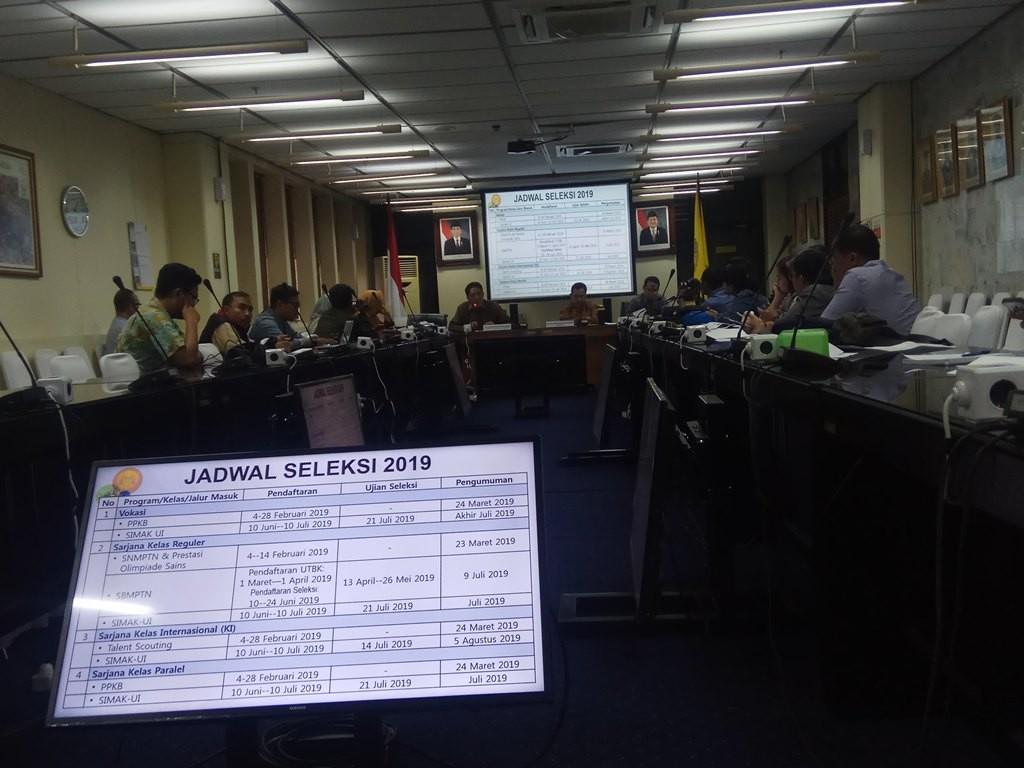 Universitas Indonesia menggelar Konferensi Pers Persiapan SNMPTN/SBMPTN 2019, Medcom.id/Octavianus Dwi Sutrisno.