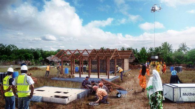Gambar rendering kegiatan pekerjaan pembangunan rumah Livingboard. rendering: Carlo Ratti Associati