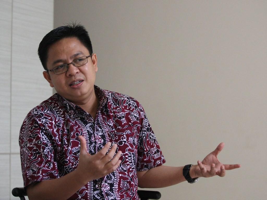 Direktur Eksekutif lembaga survei Indikator Politik Indonesia Burhanuddin Muhtadi. Foto: MI/Adam Dwi.