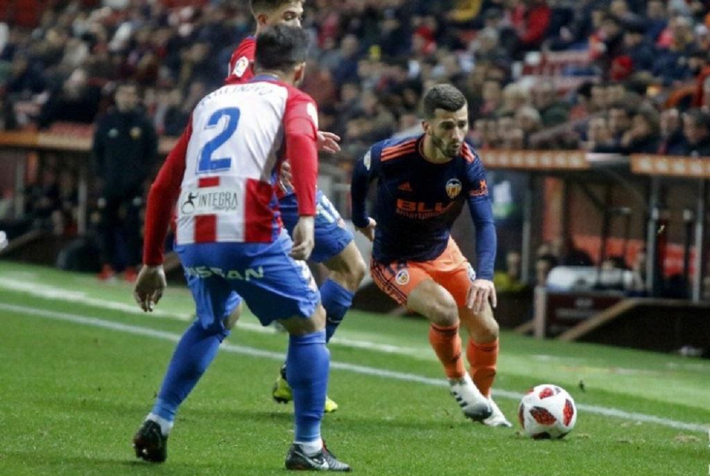 Laga perempat final Copa del Rey antara Sporting Gijon kontra Valencia (Twitter/La Liga)