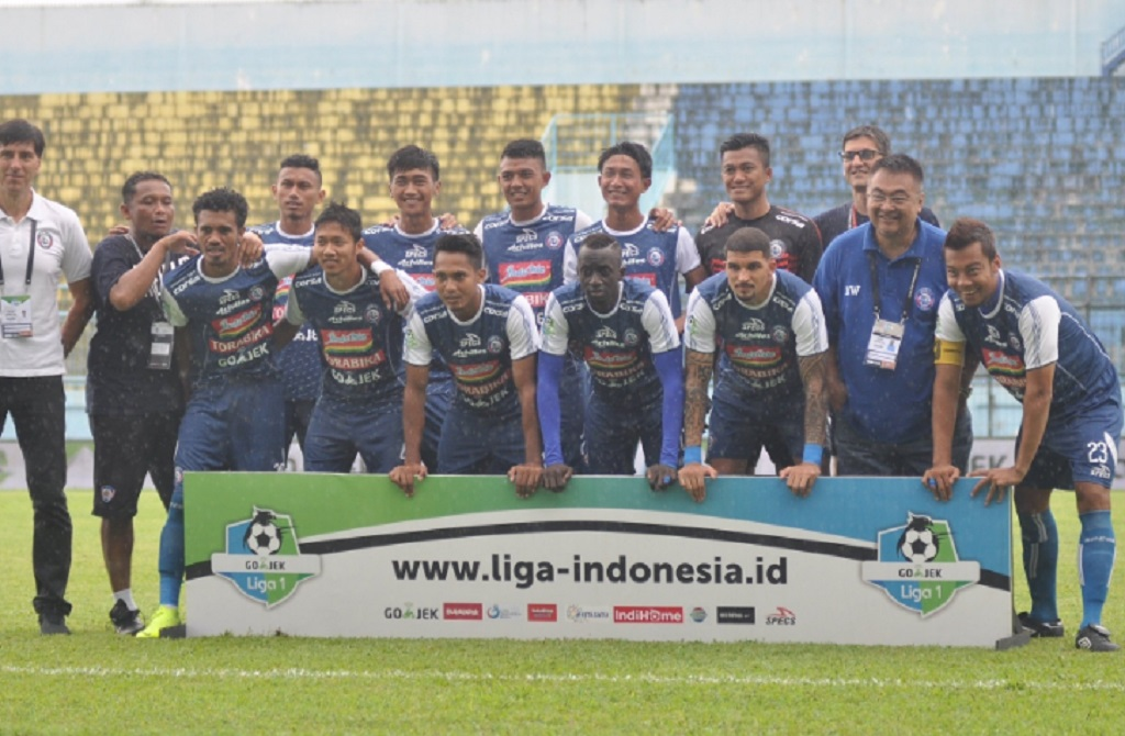 Para penggawa Arema FC di Liga 1 musim lalu (Twitter/AremaFCOfficial)