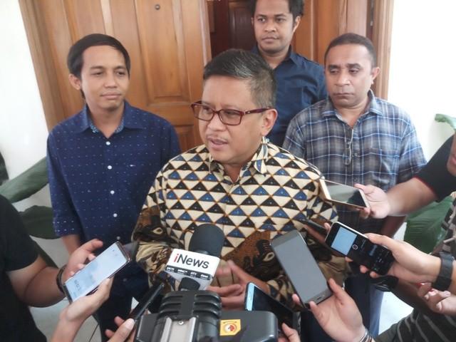 Sekretaris TKN KIK Hasto Kristiyanto/Medcom.id/Adin