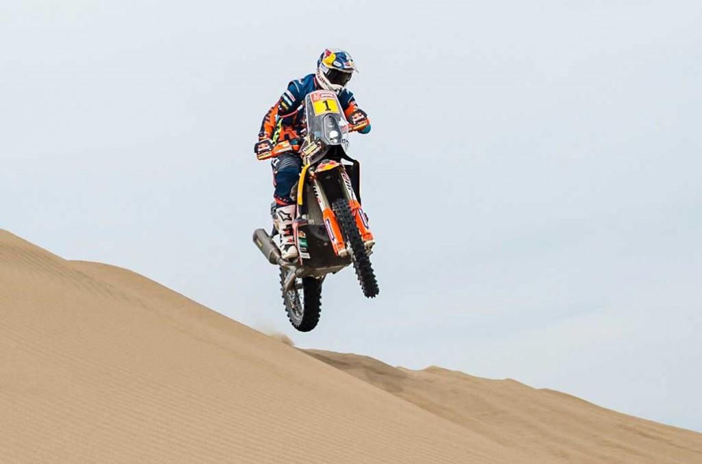 Matthias Walkner mulai panas dan tampil agresif di etape kedua Dakar Rally 2019.