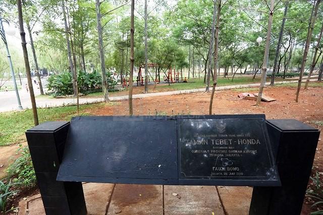 Taman Honda yang kini berubah nama menjadi Taman Tebet - MI/Ramdani.