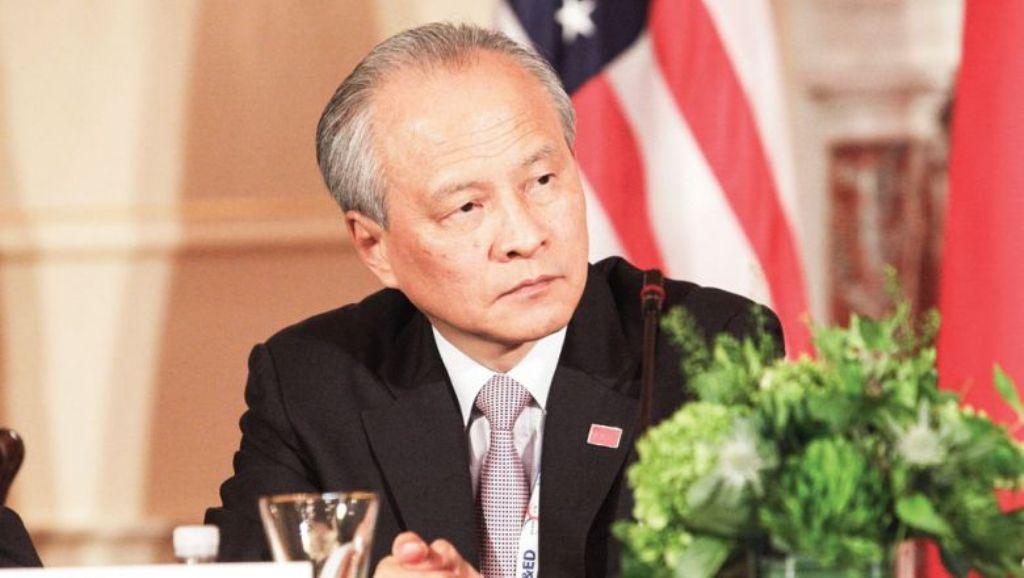 Duta Besar Tiongkok untuk Amerika Serikat Cui Tiankai. (FOTO: AFP)
