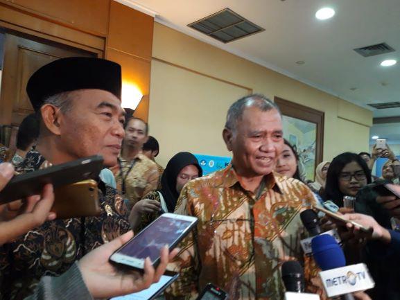 Mendikbud, Muhadjir Effendy (kiri) dan Ketua KPK Agus Rahardjo (kanan), Medcom.id/Intan Yunelia.