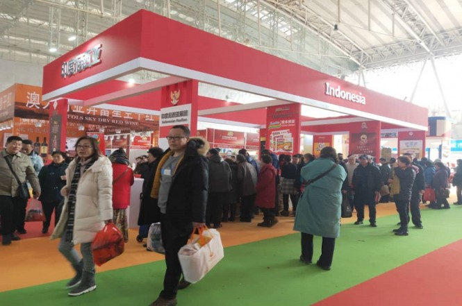 Paviliun Indonesia di Harbin Import Food Expo (HIFE) di Harbin, RRT, 5-7 Januari 2019. (Foto: KBRI Beijing)