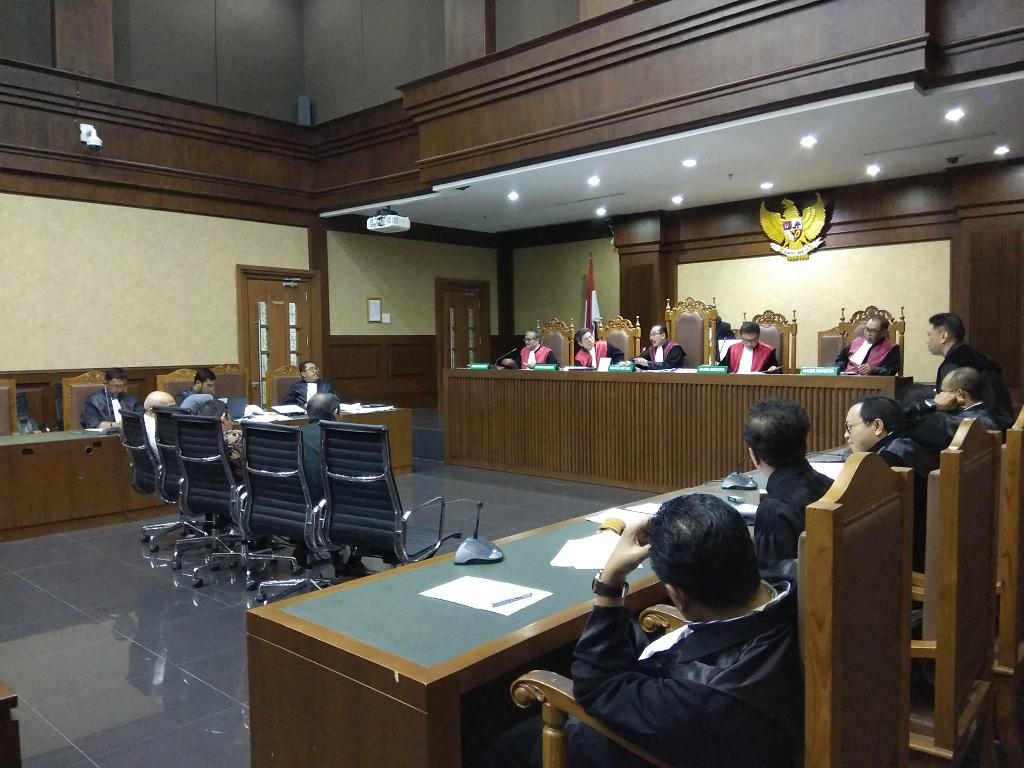 Sidang pemeriksaan saksi dengan terdakwa mantan Direktur Utama PT Asuransi Jasa Indonesia (PT Asuransi Jasindo) Budi Tjahjono - Medcom.id/Fachri Audhia Hafiez.