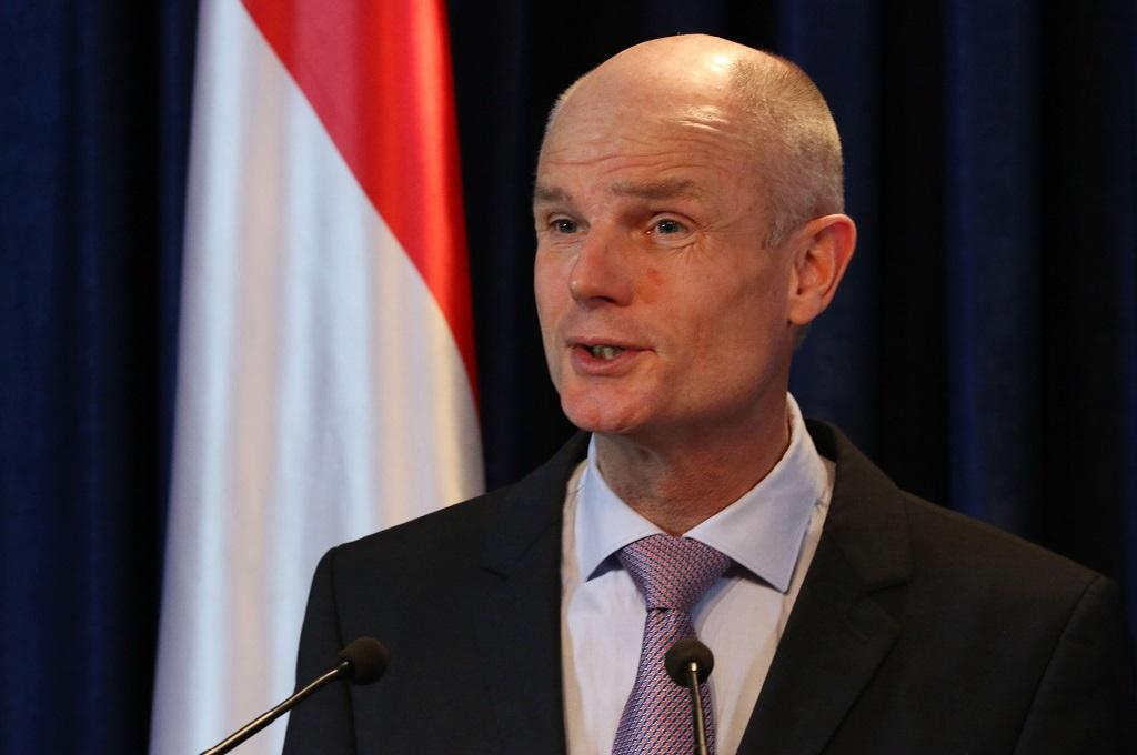 Menlu Belanda Stef Blok dalam kunjungan ke Irak, 18 Desember 2018. (Foto: AFP/SAFIN HAMED)