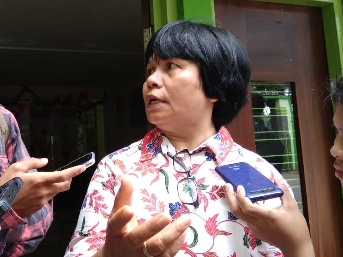 Wali Kelas Busana Butik SMK Baranangsiang, Kota Bogor, Endang Tri Astuti. Medcom.id/Rizky Dewantara