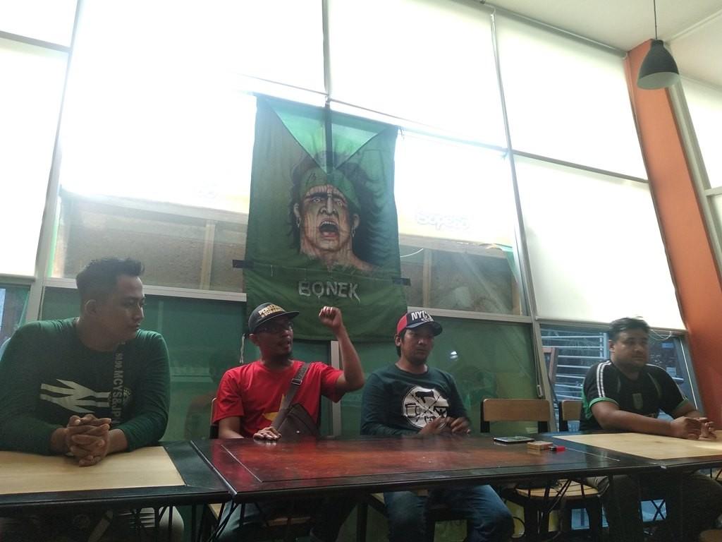 Konferensi pers acara sholawat dan doa bersama Bonek Mania (Medcom.id/Syaikhul Hadi)