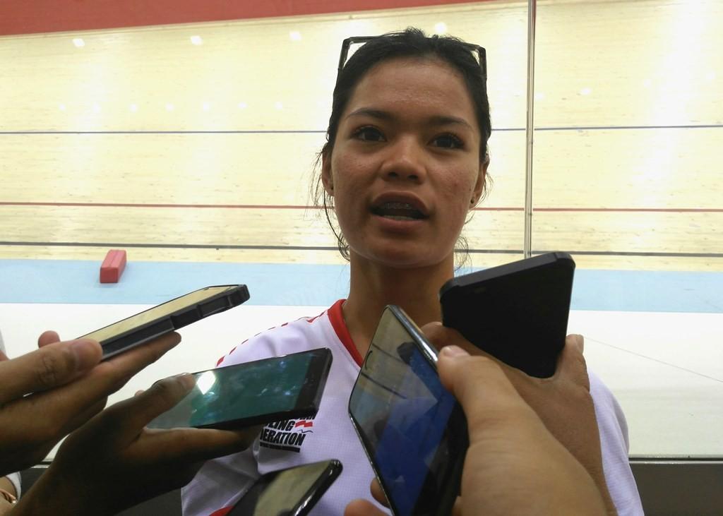 Pembalap putri Indonesia, Ayustina Delia Priyatna (Medcom.id/Kautsar Halim)