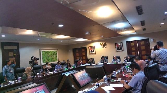 Diskusi Pelayanan Rakyat Bebas dari Korupsi di Kantor Staf Presiden RI, Rabu (9/1). Foto: Medcom.id/Santa Cicilia Sinabariba