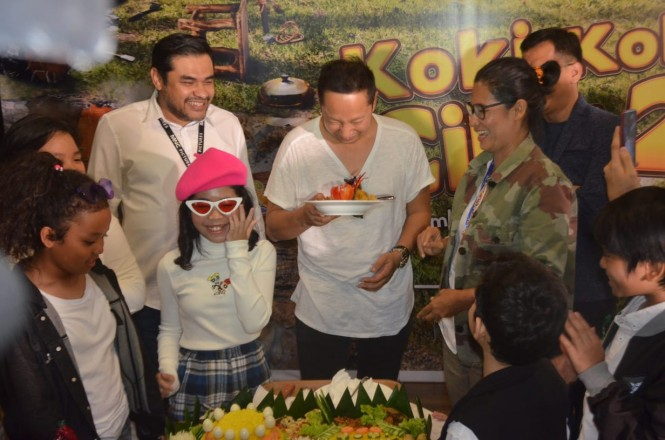 Syukuran film Koki Koki Cilik 2 (Foto: dok. mncpictures)