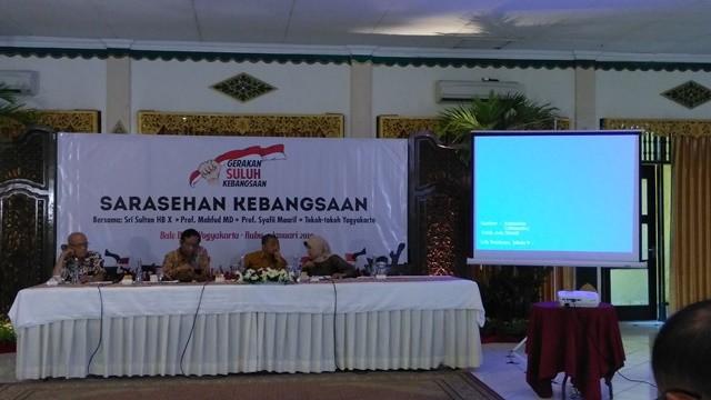 Sarasehan Gerakan Suluh Kebangsaan di Yogyakarta, Selasa Rabu 9 Januari 2019. Foto: Medcom.id/Patricia Vicka