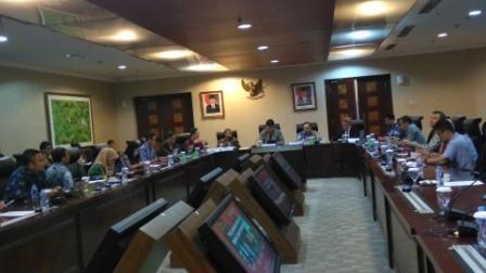 Suasana diskusi bertajuk Pelayanan Rakyat Bebas dari Korupsi. Foto: Medcom.id/Santa Cicilia Sinabariba