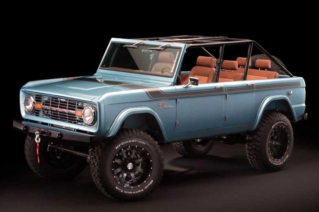 Modifikasi Ford Bronco garapan bengkel modifikasi Maxlider Brothers Customs. Autoevolution
