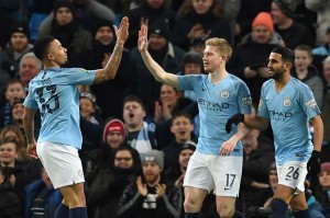 Manchester City Gilas Burton Albion 9-0