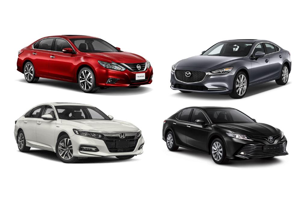 Membandingkan tenaga empat mobil medium sedan asal Jepang. Medcom.id
