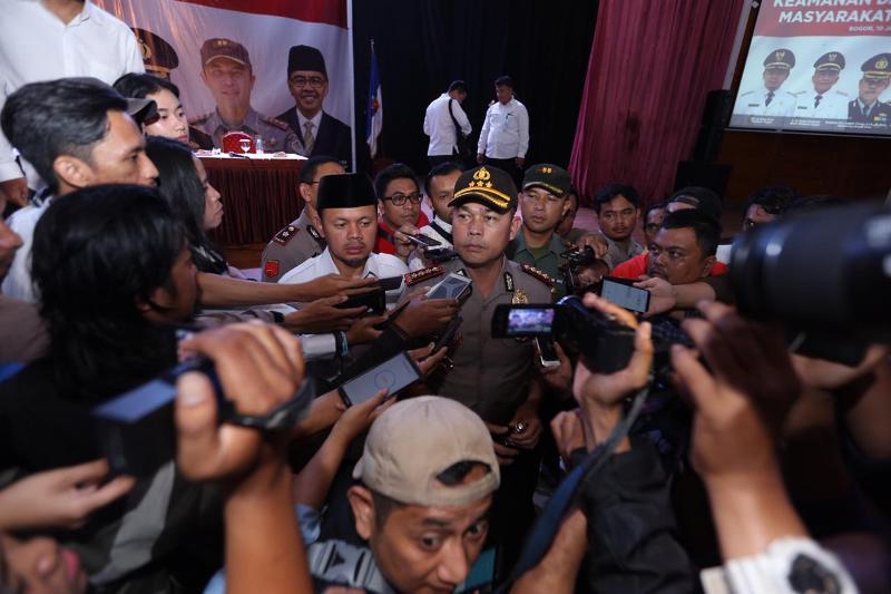 Kapolresta Bogor Kota Kombes Pol Hendri Fiuser.
