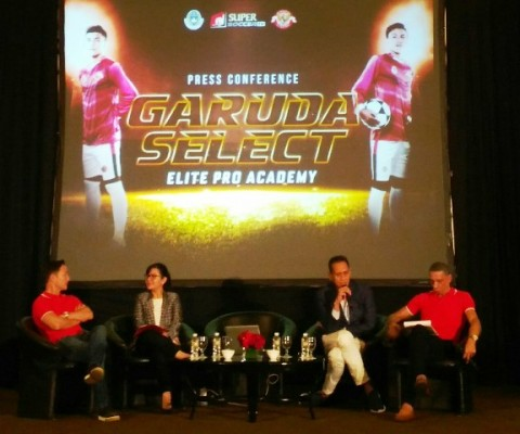 Suasana jumpa pers program Garuda Select. (Foto: Medcom.id/Zam)