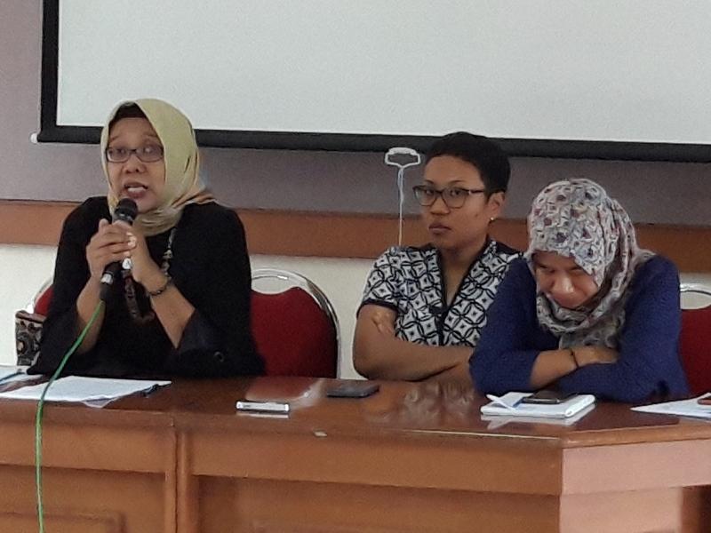 Kuasa hukum N dari Pusat Krisis Perempuan Rifka Annisa saat jumpa pers di Yogyakarta, Kamis 10 Januari 2019. Medcom.id/Patricia Vicka