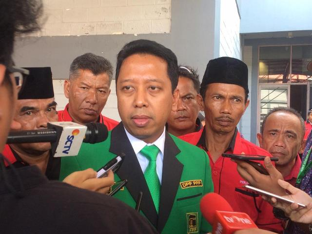 Anggota Dewan Penasihat Tim Kampanye Nasional (TKN) Jokowi-Ma'ruf, Romahurmuziy. Medcom.id/Fachri Audhia Hafiez