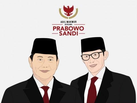 Pasangan calon presiden dan wakil presiden Prabowo Subianto dan