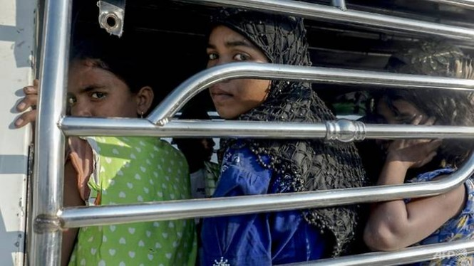 Pengungsi Rohingya di India. (Foto: AFP)